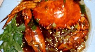 Kepiting siap makan.