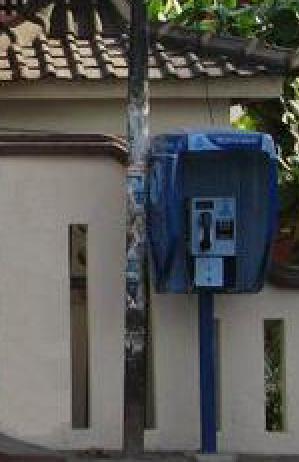 Boks telepon di depan SMP 11 Yogya yang merana.