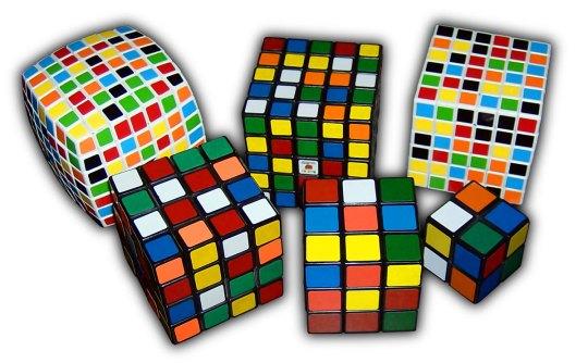 Rubik berbagai macam ukuran.