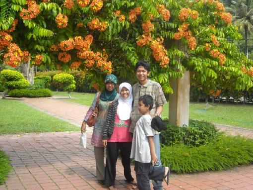 Taman bunga yang cantik di Penang.